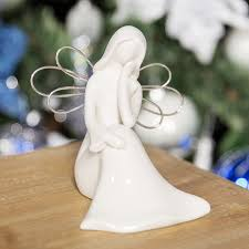 White Ceramic Angel With Wings