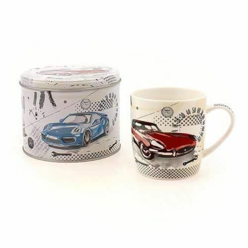 Sports Car Ceramic Mug With Matching Storage Tin
