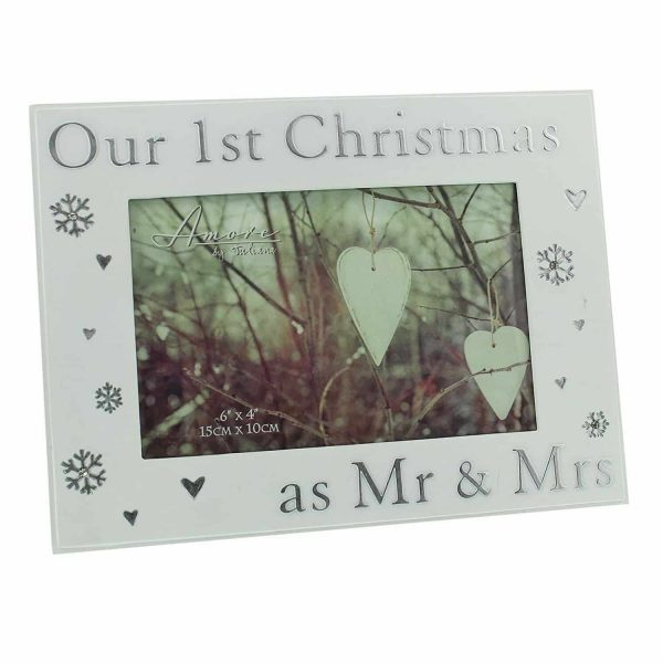 "Our 1st Christmas Photo Frame 6"" x 4"" Picture"