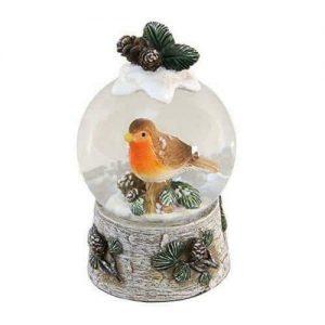 Robin & Mistletoe Christmas Snowglobe Waterball