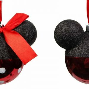 Mickey and Minnie Mouse Christmas Bauble