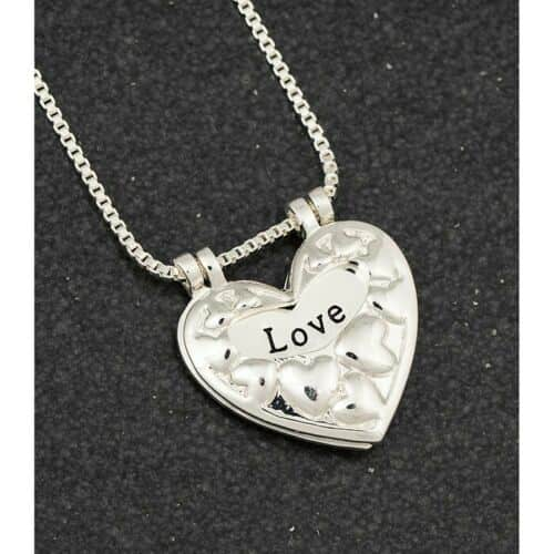 Equilibrium Silver Plated Lifting Heart Necklace