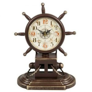 Past times ship wheel clock