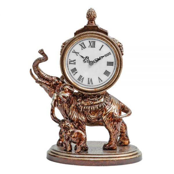 mother and baby elephant clock